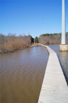 Two lick reservoir underwater bridge