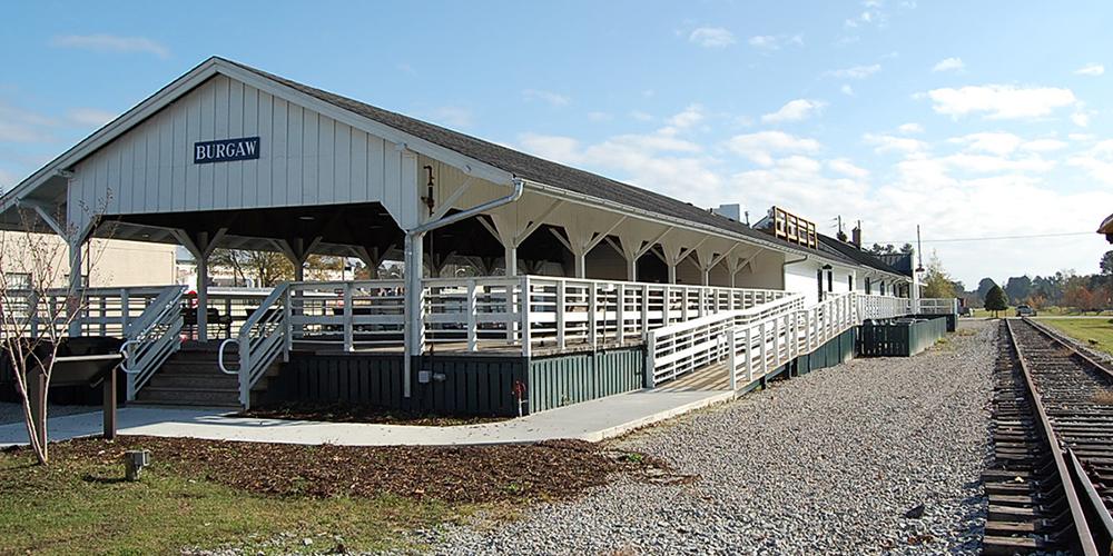The 1850s Burgaw Train Depot | Photo courtesy of town of Burgaw