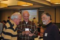 Jim Hallsey, John Jaskolka and Bill Sadler enjoying getting together at an MST Gathering of Friends. Photo by Shelton Wilder.