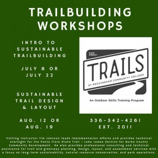 Workshop - Intro to Sustainable Trailbuilding @ Rockingham Community College | Wentworth | North Carolina | United States